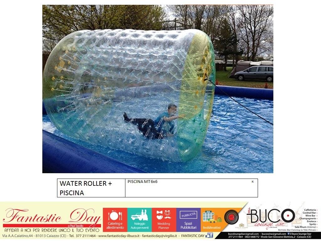 Water Roller + piscina